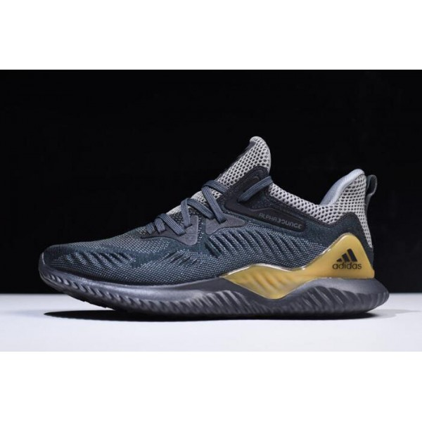 Men's 2018 Adidas AlphaBounce Beyond Grey/Carbon/Solid Grey