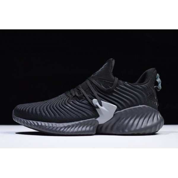 Men's/Women's Adidas AlphaBounce Instinct CC Black Grey Running Shoes