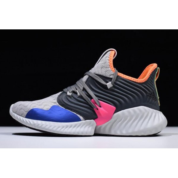 Men's Adidas AlphaBounce Instinct Clima Grey Two/Hi Res Orange