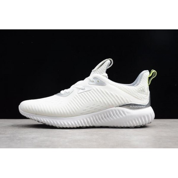 Men's Adidas AlphaBounce 1 Kolor White/Grey Two/Semi Solar Yellow