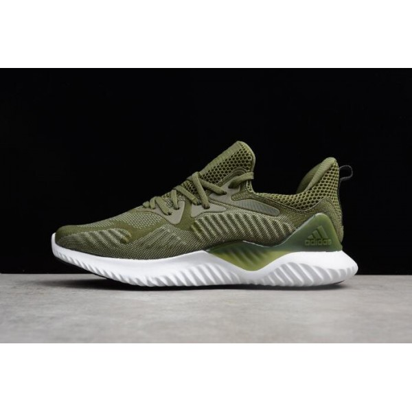 Men's Adidas AlphaBounce Army Green/White