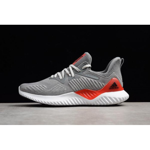 Men's Adidas Alphabounce Beyond Grey Red Running Shoes