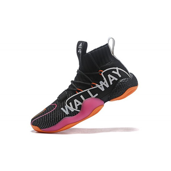 Men's John Wall x Adidas Crazy BYW X Wall Way PE Black/Orange/White/Pink