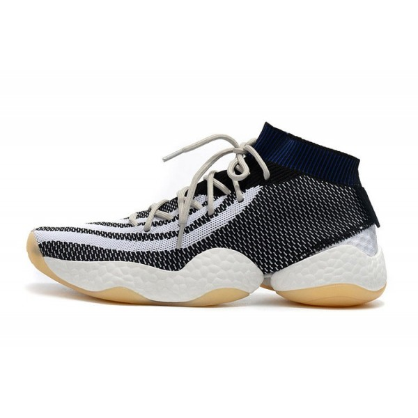 Men's Adidas Crazy BYW Primeknit White/Black/Navy Blue Shoes