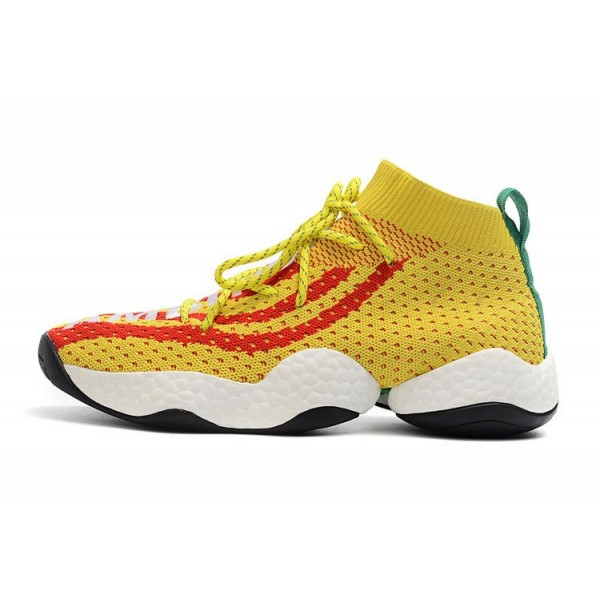 Men's Pharrell x Adidas Crazy BYW Ambition Bright Yellow/Red/Green