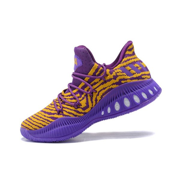 Men's Adidas Crazy Explosive Low Lakers PE Purple Yellow