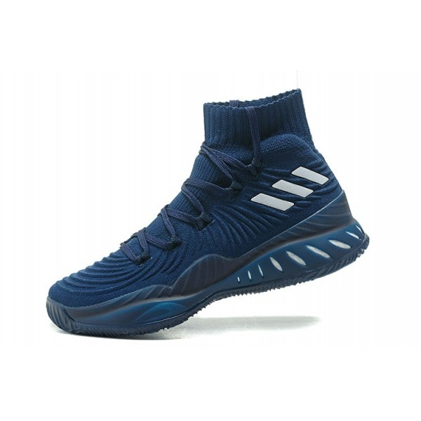 Men's Adidas Crazy Explosive 2017 Primeknit Navy Blue