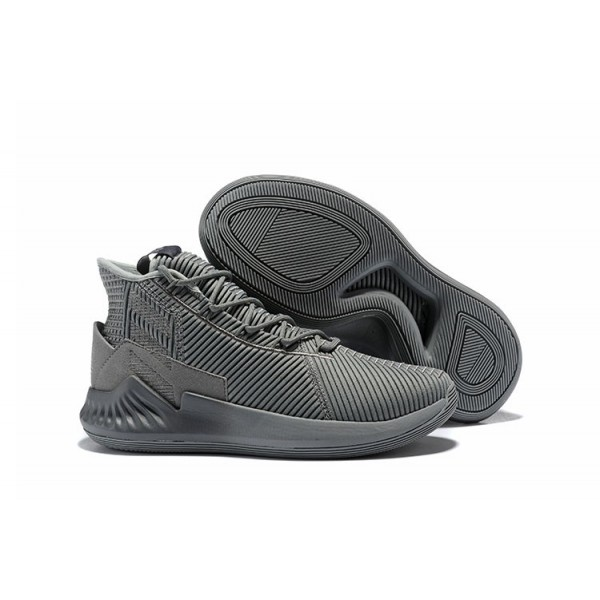 Men's 2018 Adidas D Rose 9 Cool Grey