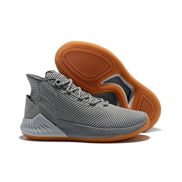 Men's 2018 Adidas D Rose 9 Grey Gum