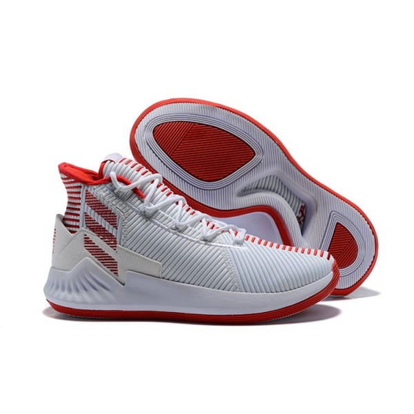 Men's 2018 Adidas D Rose 9 White/Red