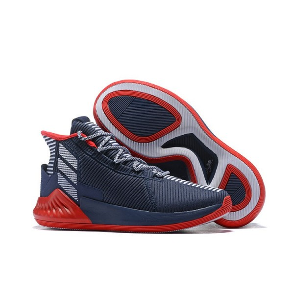 Men's Adidas D Rose 9 Navy Blue/Red/White