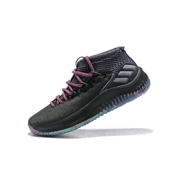 Men's Adidas Dame 4 Chinese New Year of the Dog Black/Pink/Multi/Color
