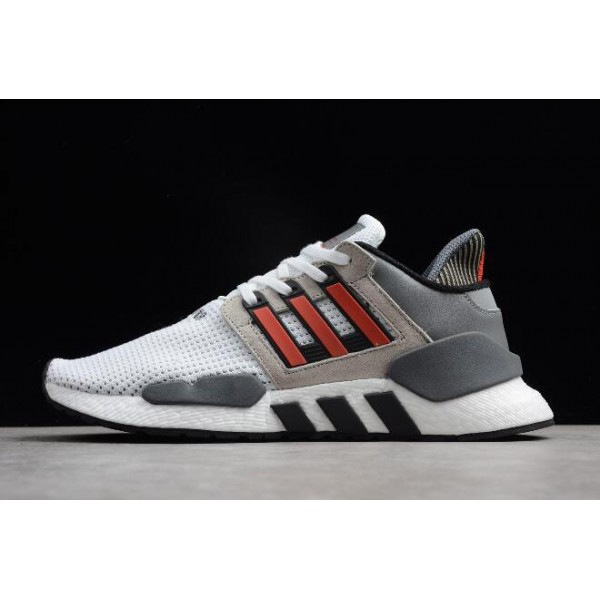 Men's/Women's Adidas Originals EQT Support 91/18 White/Grey/Black/Red