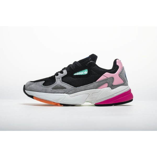 Men's/Women's Adidas Falcon W BB9173 YUNG/2 Black Pink Shoes