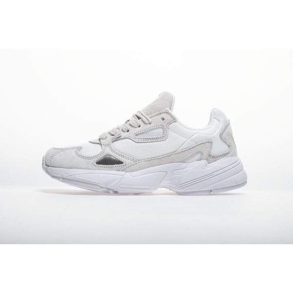 Men's/Women's Adidas Falcon W BB9174 YUNG/2 White Grey Shoes