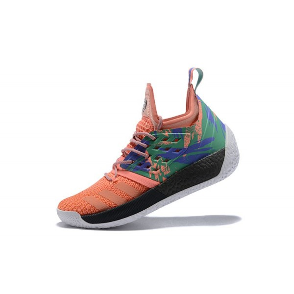 Men's Adidas Harden Vol.2 California Dreamin Bright Orange/Green/Black