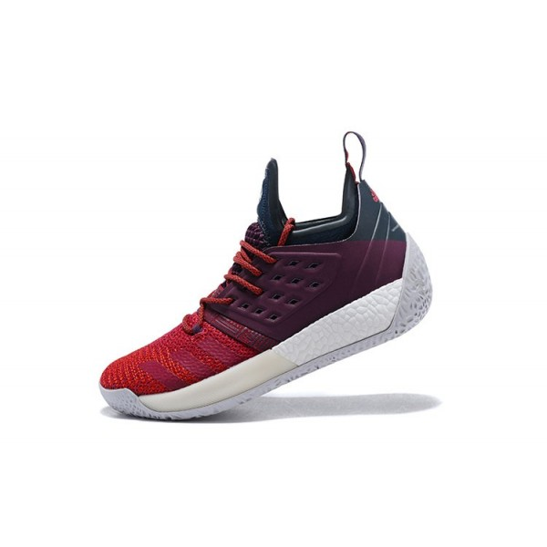 Men's Adidas Harden Vol.2 Maroon Deep Burgundy/Navy/Red