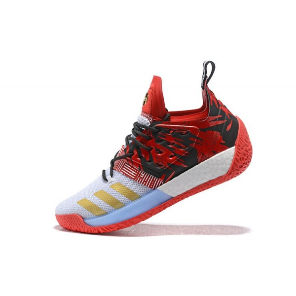 Men's Adidas Harden Vol.2 Red/Black/White/Gold
