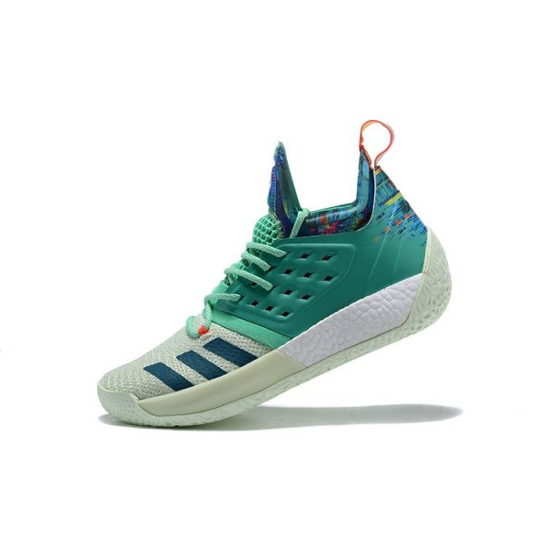 Men's Adidas Harden Vol.2 Vision All/Star White/Green/Multi/Color