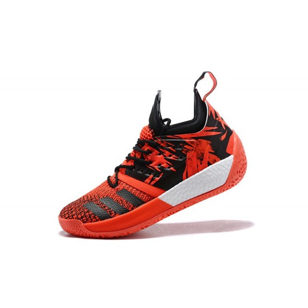 Men's New Adidas Harden Vol.2 James Red/Black/White Shoes