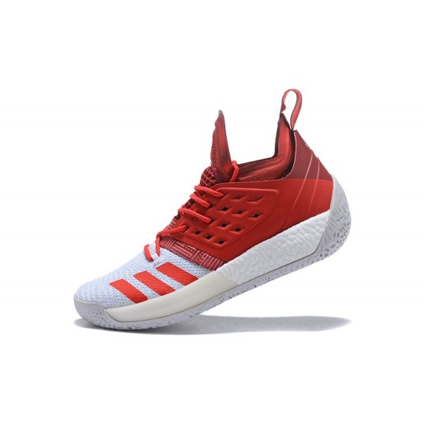 Men's New Adidas Harden Vol.2 Red/White Shoes