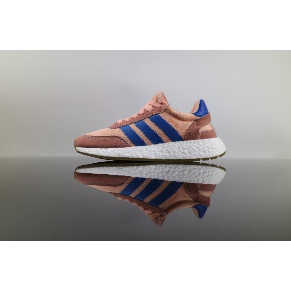 Men's/Women's Adidas Iniki Runner Boost HAZE CORAL Pink Blue