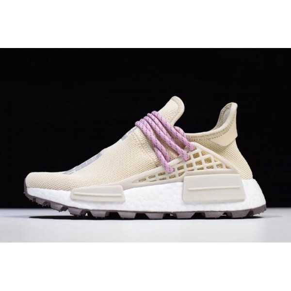 Men's/Women's Pharrell Williams x Adidas Human Race NMD Hu Cream White Pink