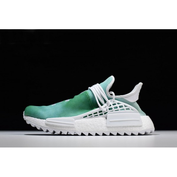 Men's/Women's Pharrell x Adidas NMD Human Race China Exclusive Youth Green/White