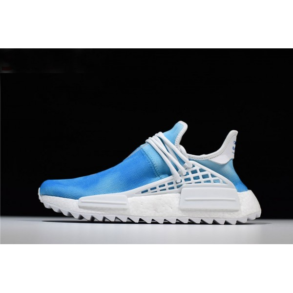 Men's/Women's Pharrell x Adidas NMD Human Race China Exclusive Peace Blue/White