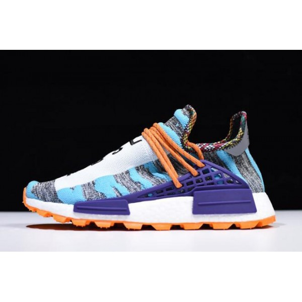 Men's/Women's Pharrell x Adidas Afro Hu NMD Hi/Res Aqua/Core Black