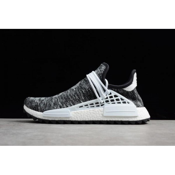 Men's Pharrell x Adidas NMD Hu Trail Core Black/Footwear White