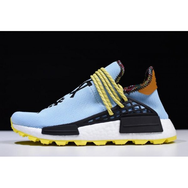 Men's/Women's Pharrell Williams x Adidas Hu NMD Inspiration Blue/Yellow/Black
