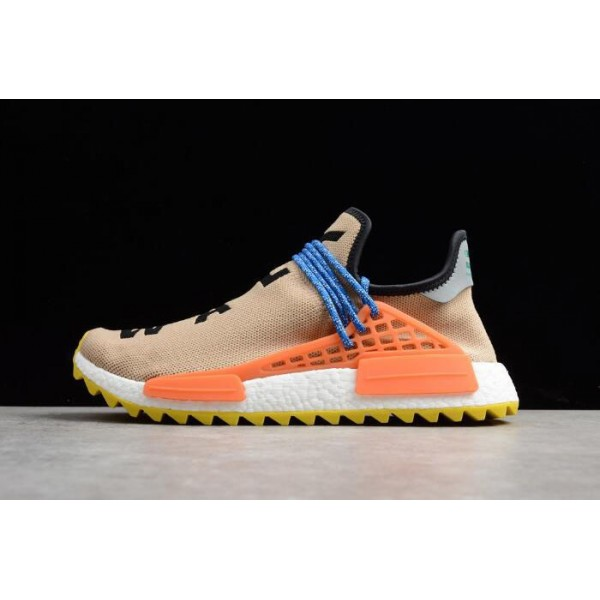 Men's Pharrell Williams x Adidas NMD Hu Trail Pale Nude/Core Black/Yellow