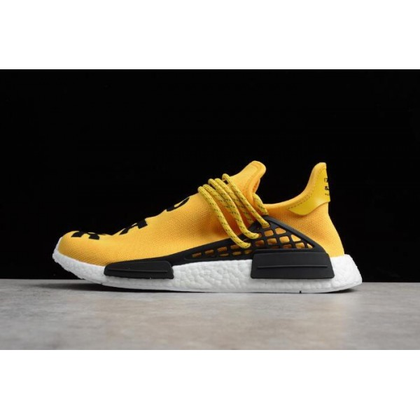 Men's Pharrell Williams x Adidas NMD Human Race EQT Yellow Yellow/White