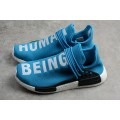 Men's Pharrell x Adidas HU NMD Human Being Shale Blue Shoes