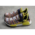 Men's Pharrell x Adidas NMD Hu Trail Multicolor Noble Ink/Bold Yellow White