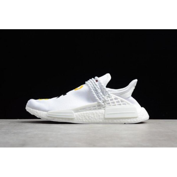 Men's Pharrell x Adidas NMD Human Race Birthday White Colorful