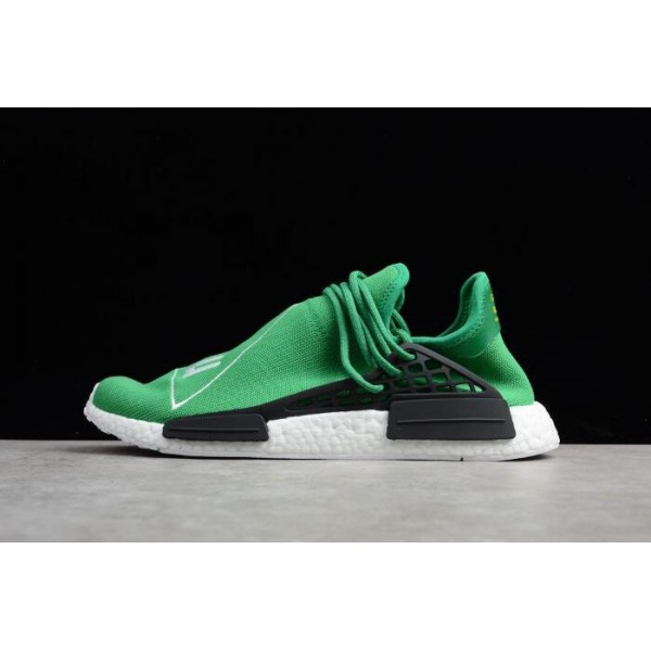 Men's Pharrell x Adidas NMD Human Race Green/Footwear White/Black