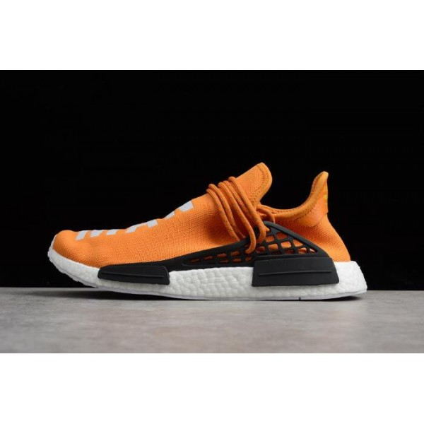 Men's Pharrell x Adidas NMD Human Race Tangerine Orange/Black/White