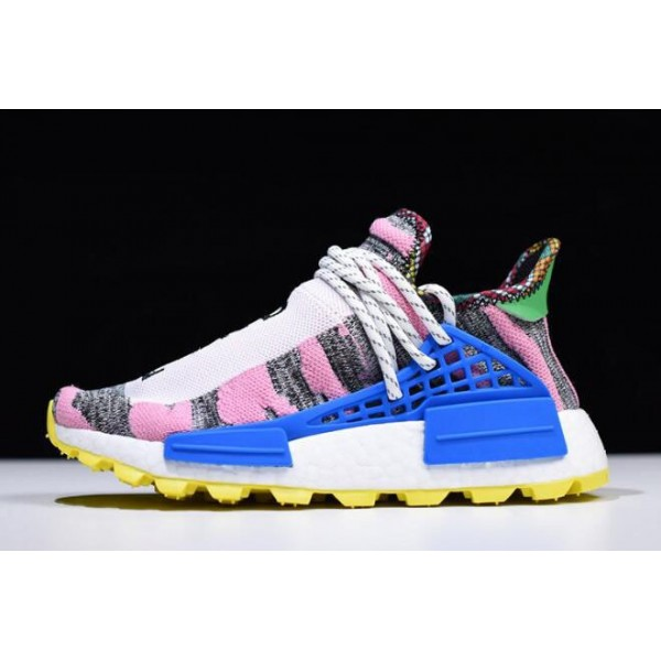 Women's Pharrell x Adidas NMD Hu Solar Pack Hi/Res Red/Bright Blue