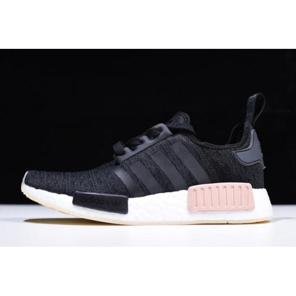 Men's/Women's Adidas NMD R1 Chalk Pearl Core Black/Noble Indigo/White