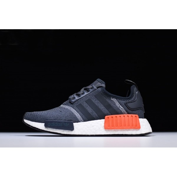 Men's Adidas NMD R1 Dark Grey/Semi Solar Red