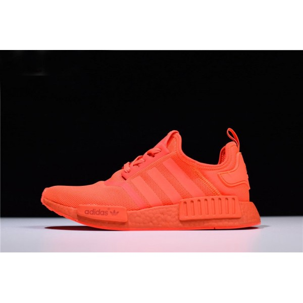 Men's/Women's Adidas NMD R1 Monochrome Pack Solar Red/Solar Red