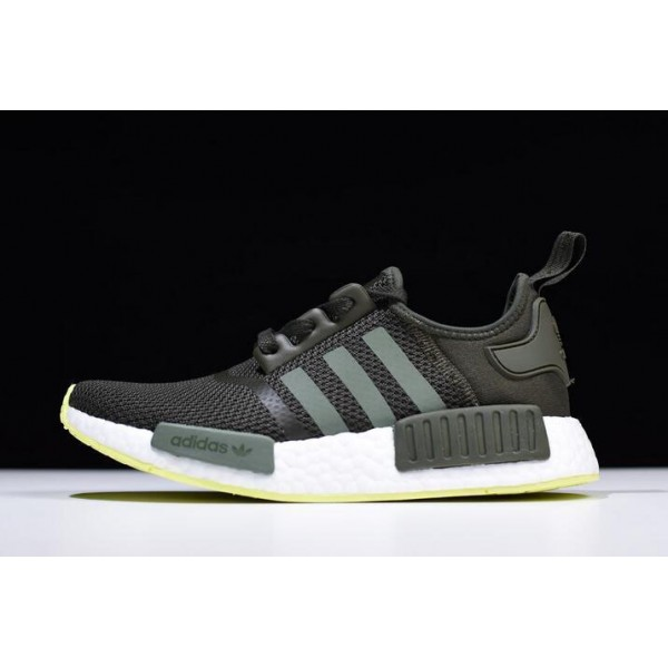 Men's Adidas NMD R1 Night Cargo/Base Green/Semi Frozen Yellow