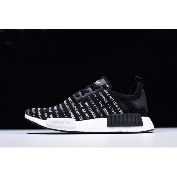 Men's New Adidas NMD R1 Brand With The Three Stripes Core Black/White