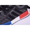 Men's New Adidas NMD R1 Primeknit Friends and Family Grey/Red/White/Blue