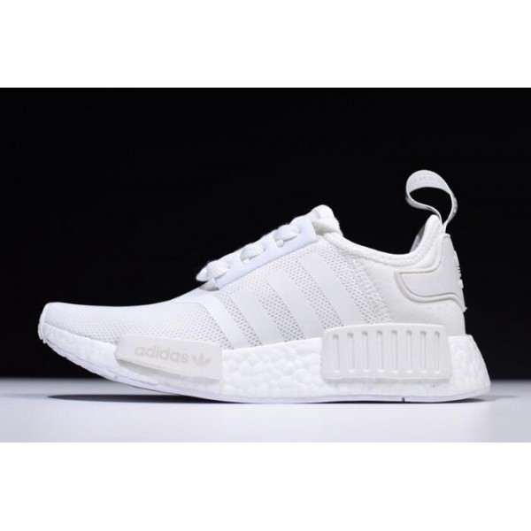 Men's/Women's New Adidas NMD R1 Primeknit White Black On Sale