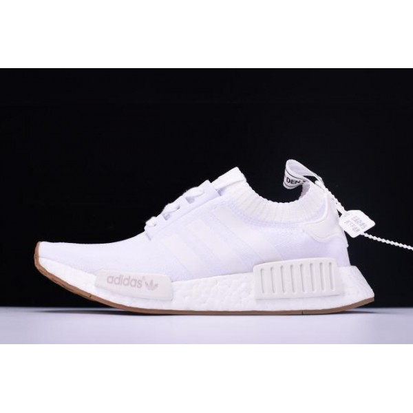 Men's/Women's New Adidas NMD R1 Primeknit White Gum BY1888