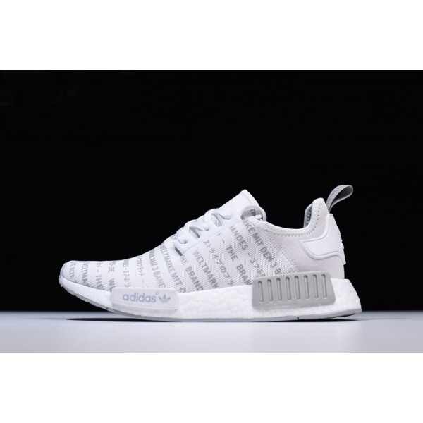 Men's New Adidas NMD R1 Whiteout FTWR White/CH Solid Grey