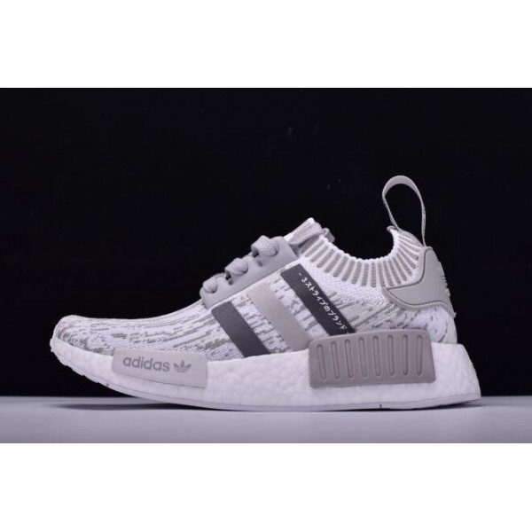 Men's/Women's New Adidas Originals NMD R1 Primeknit Grey Glitch Camo